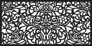 Matrix Decor Wall Art Panel Baroque Charcoal 1ea/45.5 In X 23 in