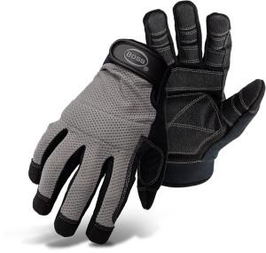 Boss Breathable Mesh Back Utility Glove Black, Grey 6ea/Extra Large