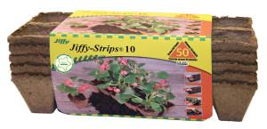 Jiffy Strips 10 Grows Plants Brown 30ea/50 Plants 5 pk