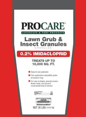 Pro Care Lawn Grub & Insect Granules 50ea/30 lb