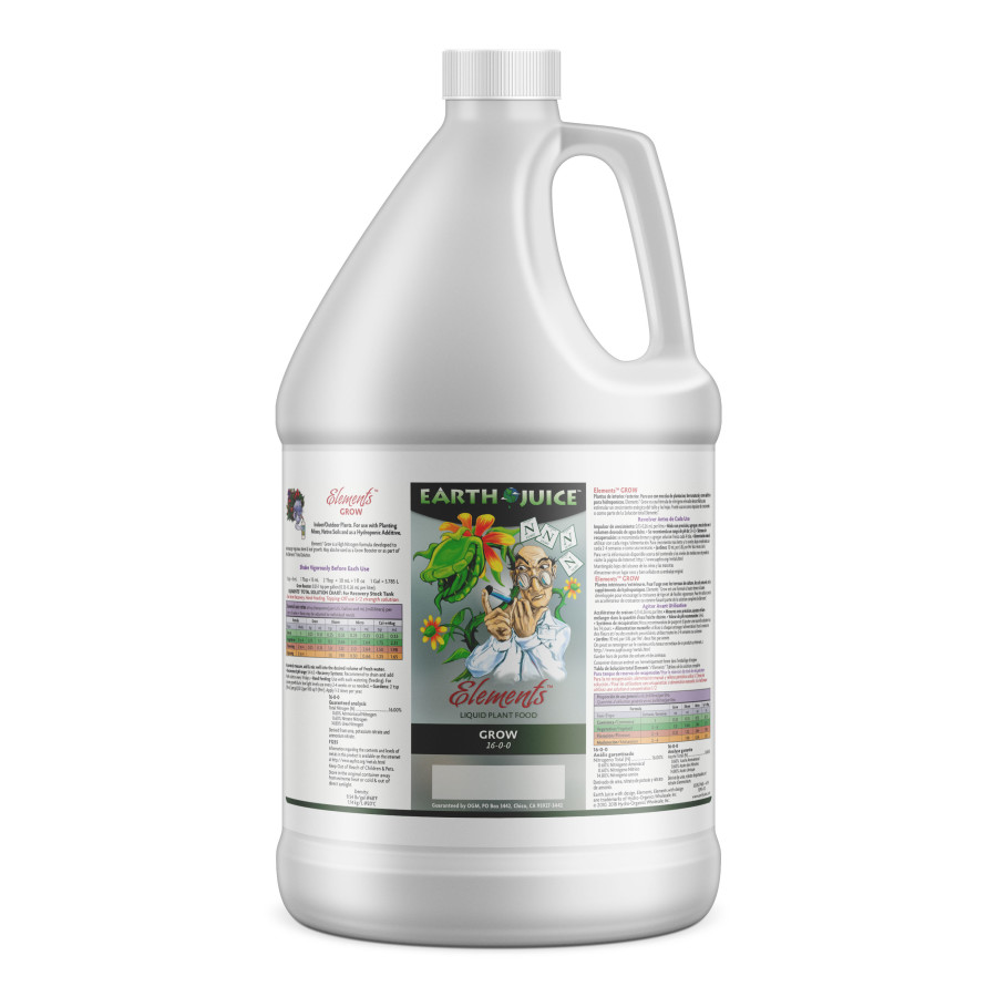 Earth Juice Elements Grow Liquid Plant Food 16-0-0 4ea/1 gal