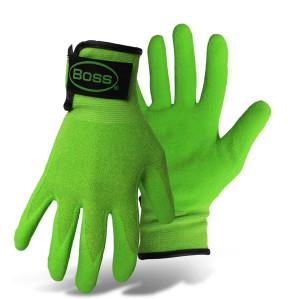 Boss Guardian Angel® Sandy Nitrile Palm Glove Green, Fuchsia 12ea/X-Small