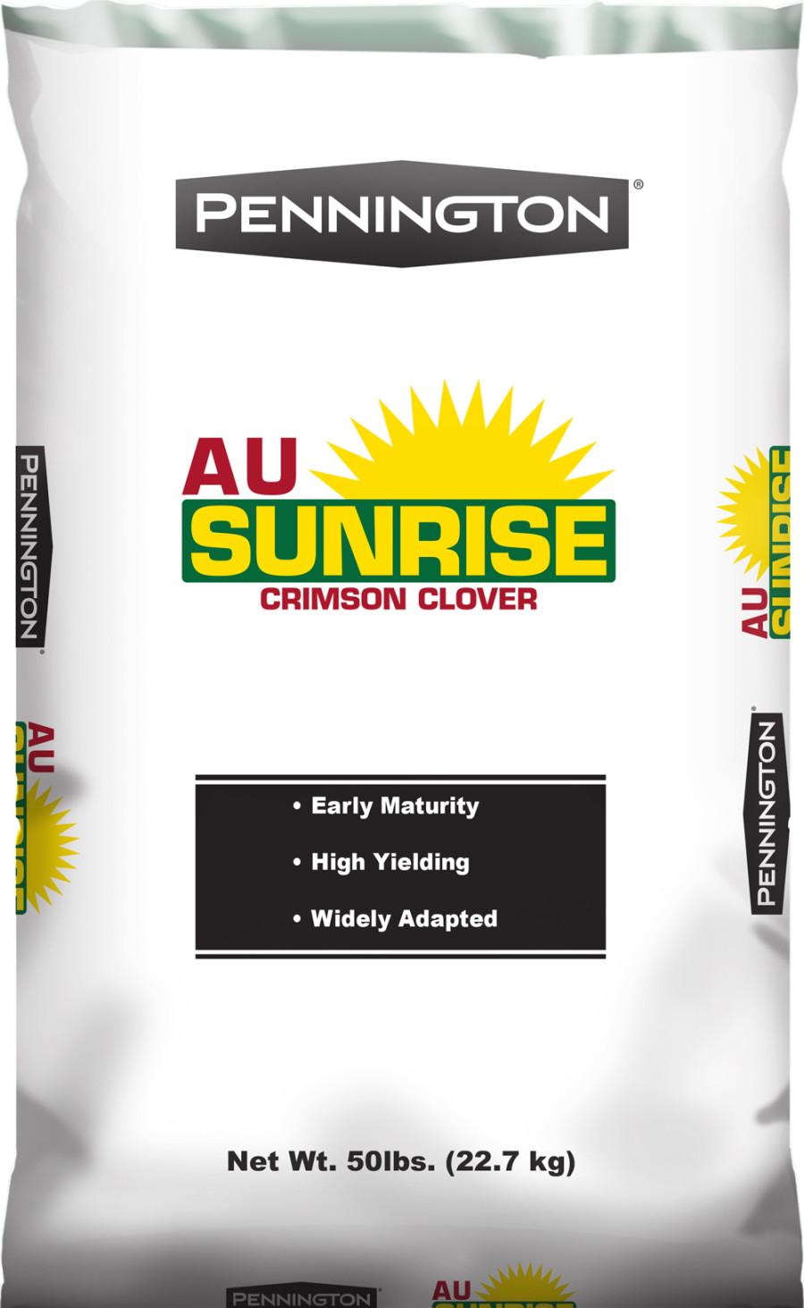 Pennington Crimson Clover Seed AU Sunrise Pre-Inoculated 50% CT 1ea/50 lb