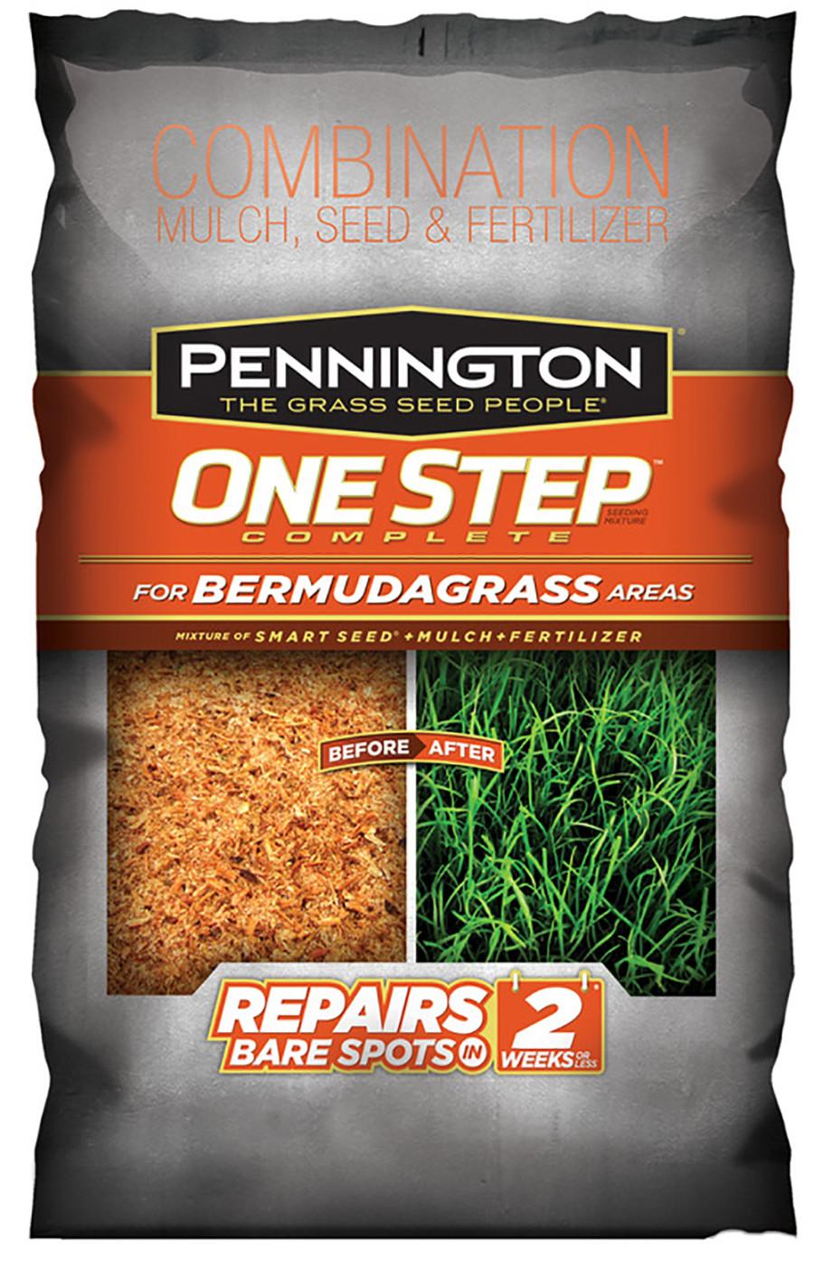 Pennington One Step Complete Bermudagrass Seed, Mulch, Fertilizer Premium Seed 36ea/8.3 lb