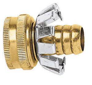 Gilmour Heavy Duty Clinch Repair 5/8in Brass Hose Coupling Female Female Multi-Color 10ea/1.5 In X 1.63 In X 4.5 in