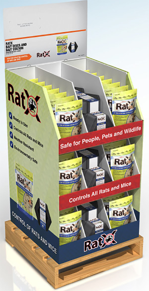 RatX Bait Discs and Bait Station Mixed 4 Pallet Display 1ea