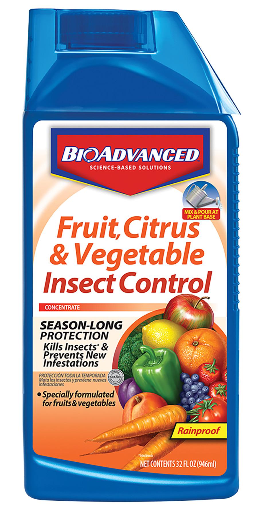 BioAdvanced Fruit Citrus Vegetable Insect Control Concentrate 8ea/32 fl oz