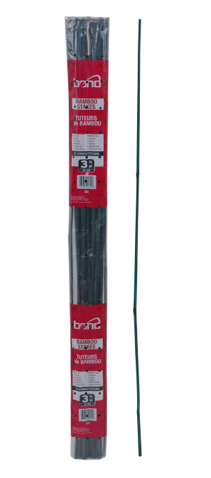 Bond Packaged Bamboo Stakes 25pk Green 25ea/1/2inx3 ft