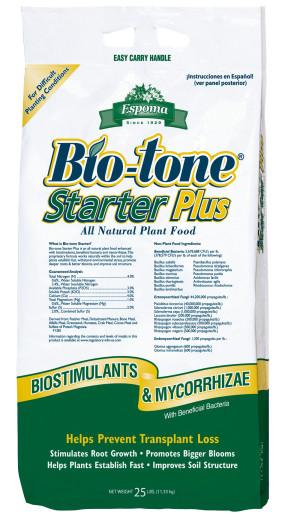 Espoma Bio-tone Starter Plus Plant Food Natural 4-3-3 1ea/25 lb