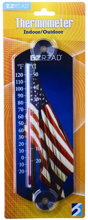 E-Z Read Thermometer American Flag Multi-Color 10ea/10 in
