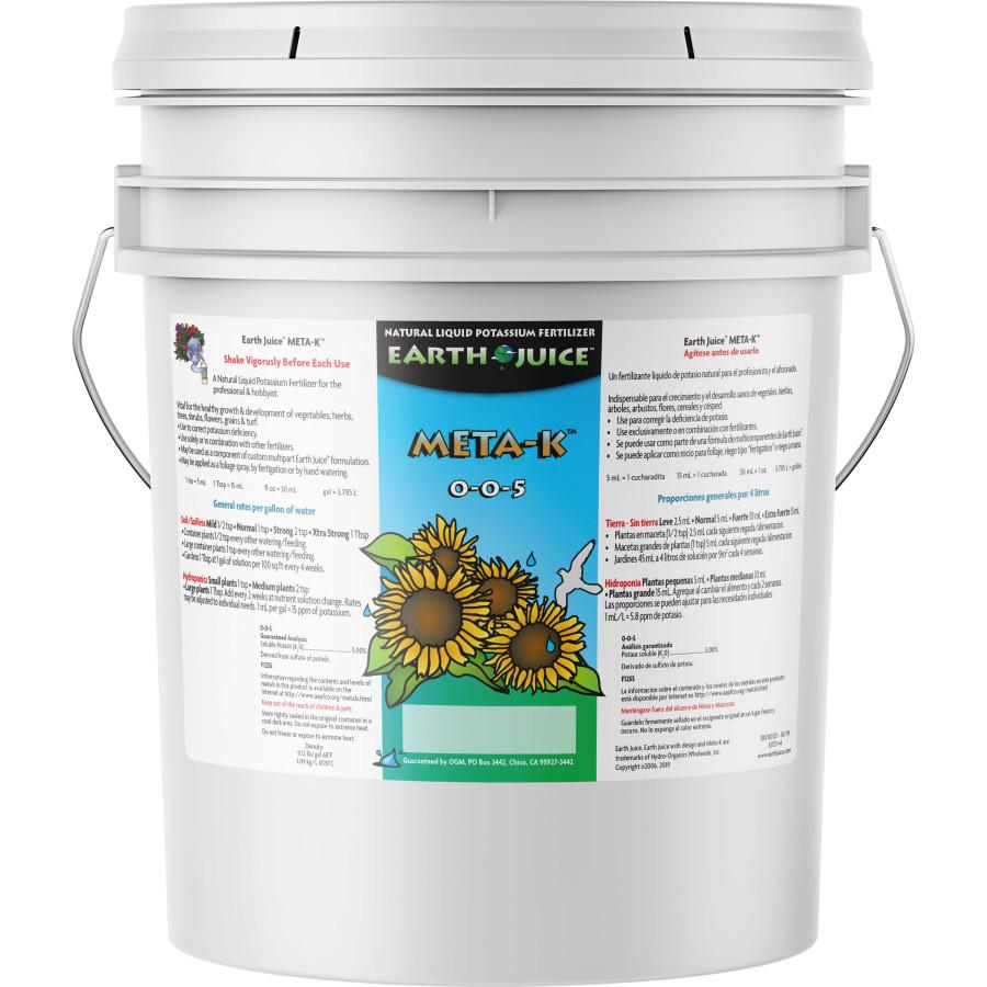 Earth Juice Meta-K Natural Liquid Potassium Fertilizer 0-0-5 1ea/5 gal