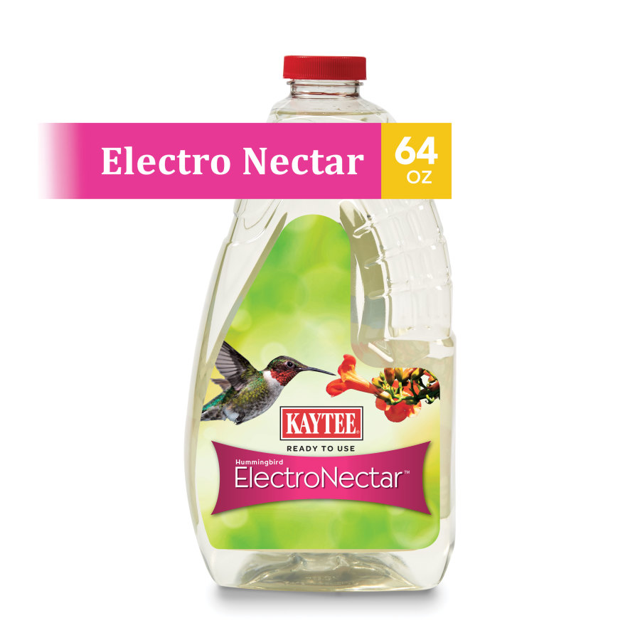 Kaytee Hummingbird ElectroNectar Ready To Use Clear 4ea/64 oz