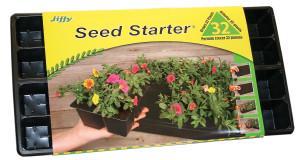 Jiffy Seed Starter Tray Grows 32 Plants Black 14ea