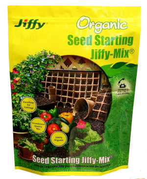 Jiffy Organic Seed Starting -Mix 8ea/10 qt