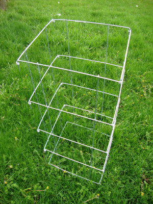 Midwest Wire Works Collapsible Square Cage 8-Leg Heavy-Duty Galvanized 25ea/40 in
