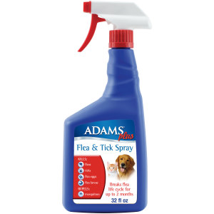 Adams Plus Flea & Tick Spray 12ea/32 oz