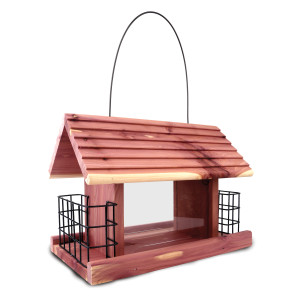 Pennington Cedar Grand Snack Shack Bird Feeder Red, Brown 2ea