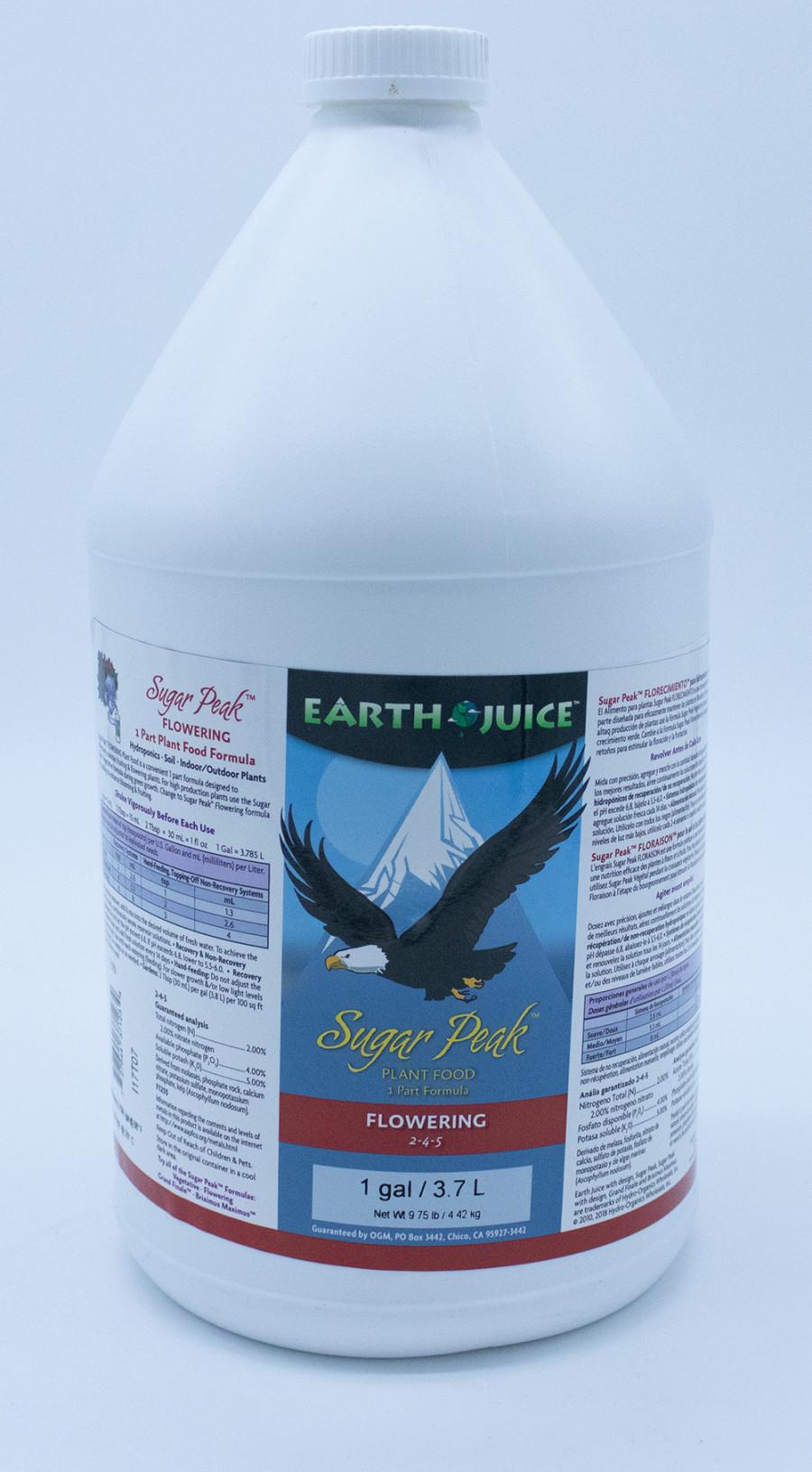 Earth Juice Sugar Peak Flowering 2-4-5 Rock Phosphate 4ea/1 gal