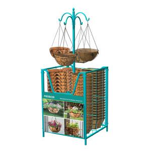 Panacea Empty Multi Basket Bin Display Aqua 1ea