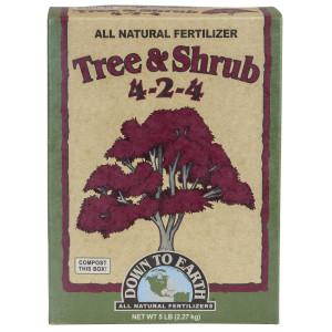 Down To Earth Tree & Shrub Mix Mycorrhizal Fungicide Natural Fert 4-2-4 6ea/5 lb
