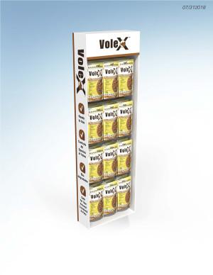 RatX VoleX Control Pellets Display Powerwing 36ea