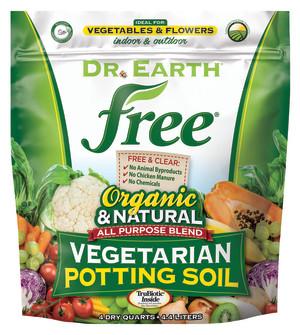 Dr. Earth Free All Purpose Potting Soil 12ea/4 qt