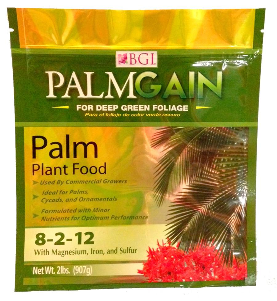 BGI PalmGain Palm Plant Food Fertilizer 12ea/8-2-12 2 lb