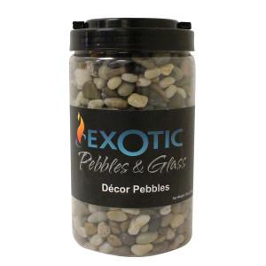 Exotic Pebbles Polished Jar Gravel Mixed 6ea/5 lb