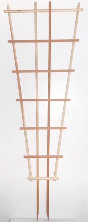 JJ Roberts California Trellis Redwood Fan Espalier Fan Brown 6ea/2.5Ftx7 ft