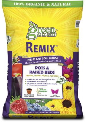 Green As It Gets Remix Pre-Plant Soil Boost for Pots & Raised Beds 1ea/37 lb