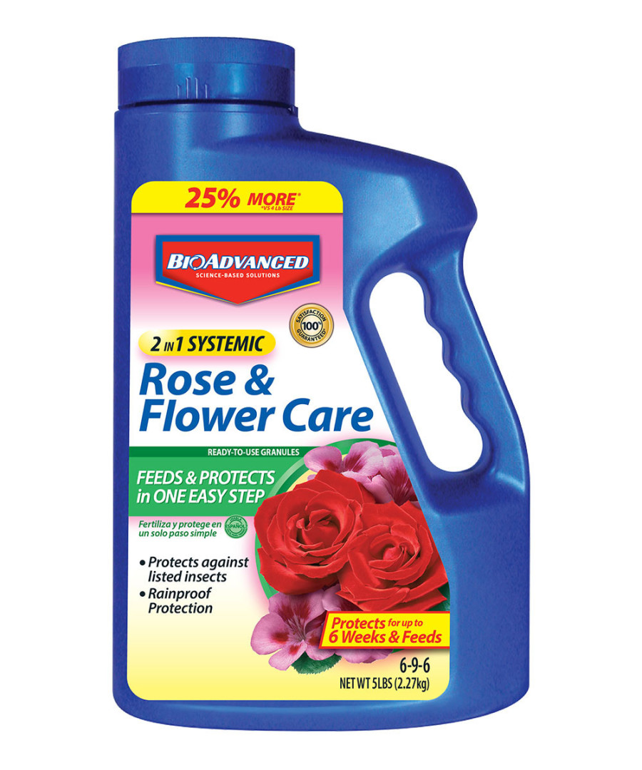 BioAdvanced 2-in-1 Rose & Flower Care Granules 6-9-6 Acephate 6ea/5 lb