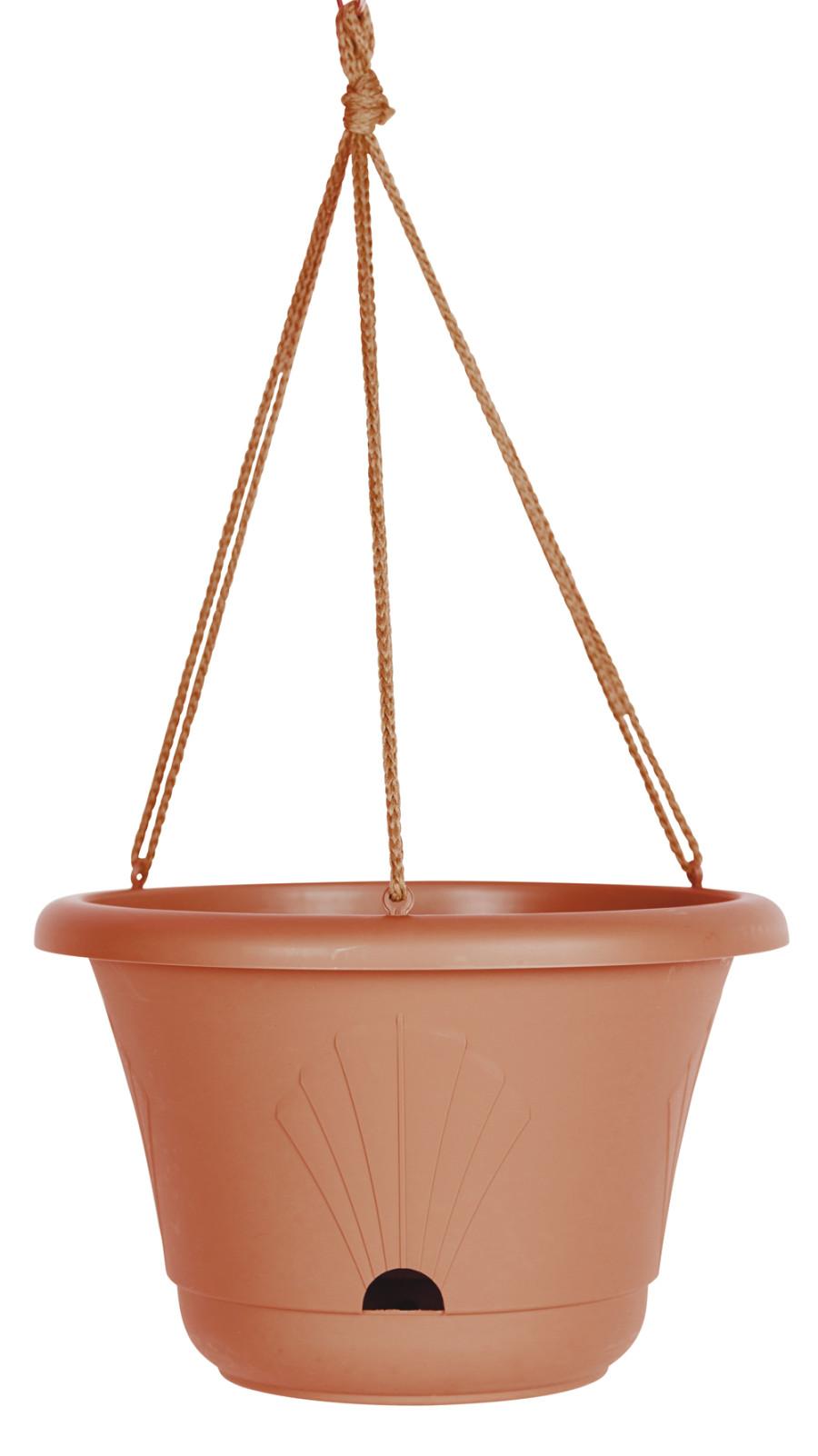 Bloem Lucca Hanging Basket Planter Terra Cotta 10ea/13 in