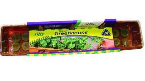 Jiffy Windowsill Greenhouse Grows 24 Plants Tray Brown 30ea