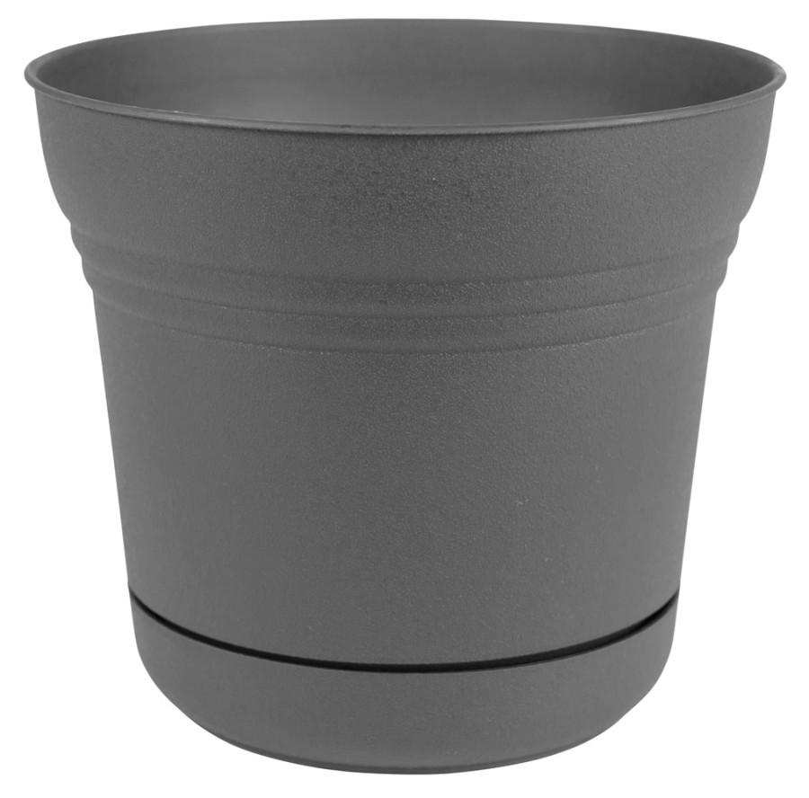 Bloem Saturn Planter Charcoal 6ea/10 in