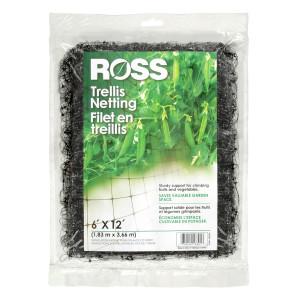 Ross Trellis Netting Plant Support Black 18ea/6Ftx12 ft