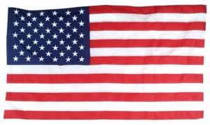 Flag Zone Nylon United States Flag with Aluminum Pole 3ea/Flag: 3Ftx5Ft Pole: 20 ft