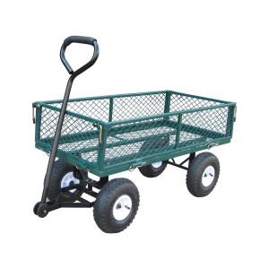 Bond Garden Cart Pneumatic Wheels Fold Down Steel Sides 225lb Capacity 1ea
