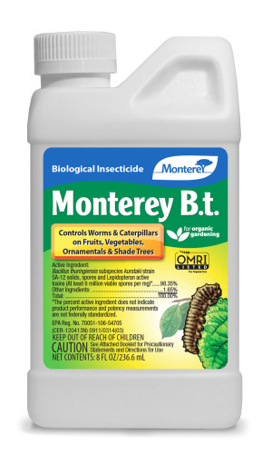 Monterey B.T. Biological Insecticide Concentrate Organic 12ea/8 oz