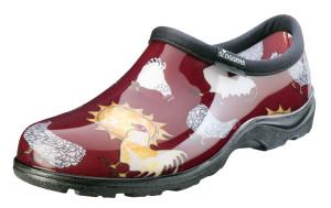 Sloggers Women's Waterproof Comfort Shoes Chicken Barn Red 1ea/Size 9