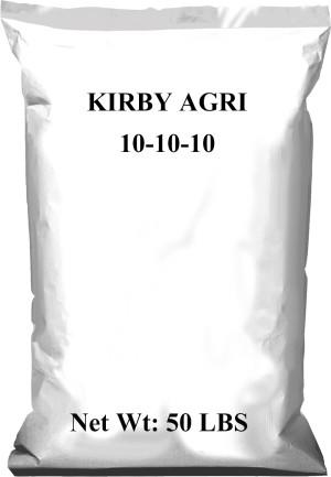 Kirby Agri Fertilizer 10-10-10 1ea/50 lb
