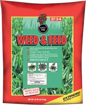Easy Gro Weed & Feed Fertilizer 27-3-4 1ea/40 lb