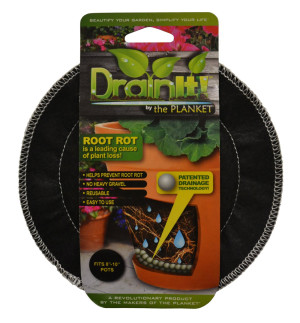 DrainIt! Plant Container Disc Fits 12in - 15in Pots Clip Strip Black 24ea/8In - 10In 6.5 in