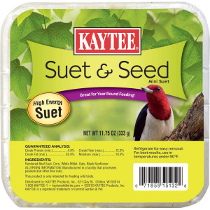 Kaytee Suet & Seed High Energy Mini Suet 12ea/11.75 oz
