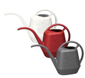 Bloem Aqua Rite Watering Can Mixed Case Core Casper White, Burnt Red, Charcoal 12ea/56 oz