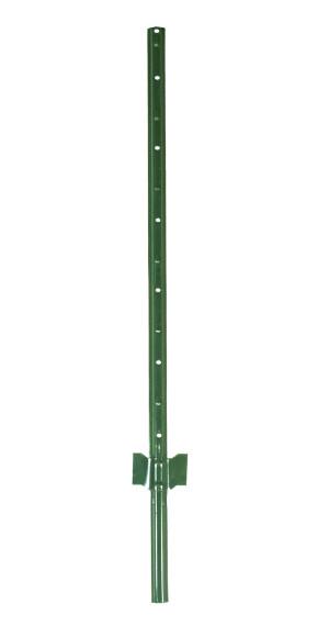 Garden Zone Utility Fencing Light-Duty Steel Fence Post Green 200ea/4 ft