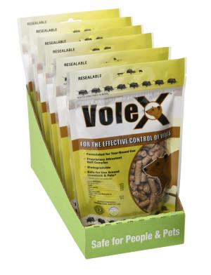 RatX VoleX Control Pellets Display Bag with Tray 6ea/8 oz