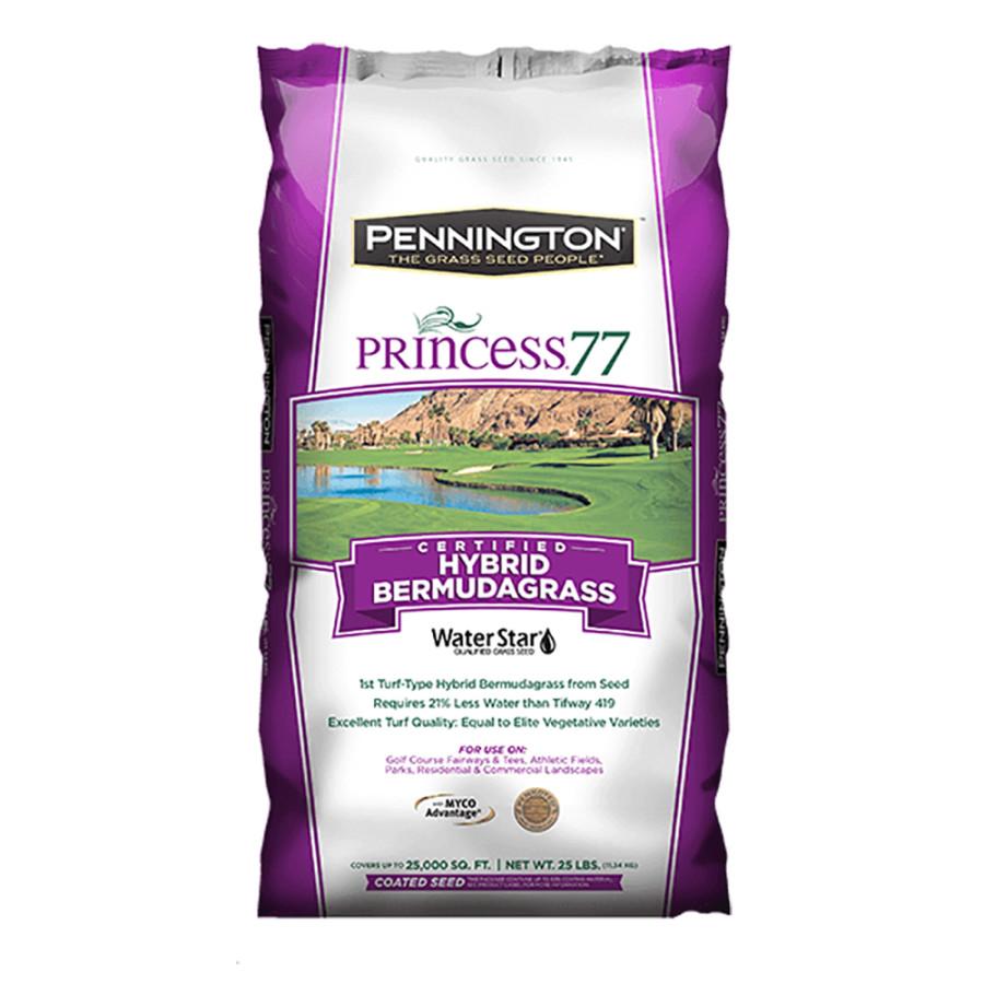 Pennington Princess 77 Hybrid Bermudagrass Grass Seed Penkoted With MYCO 1ea/25 lb