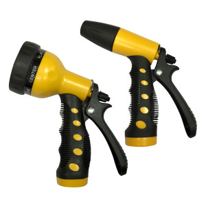 Centurion 2 Piece 7-Way & Twist Watering Nozzle Set Black, Yellow 12ea