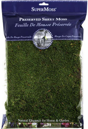 Supermoss Sheet Moss Preserved Fresh Green 10ea/8 oz