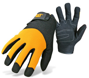 Cat Padded Utility Glove with Mesh Adjustable Wrist